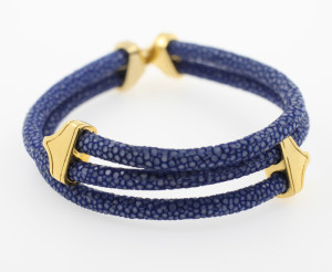 Rochenleder-Armband