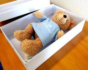Hublot-Steiff-Teddybär-Fynn-unpacked